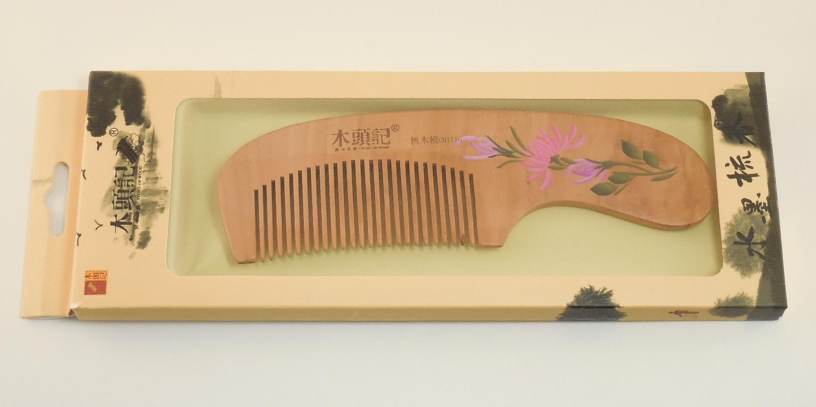 Деревянная расческа в подарок 65